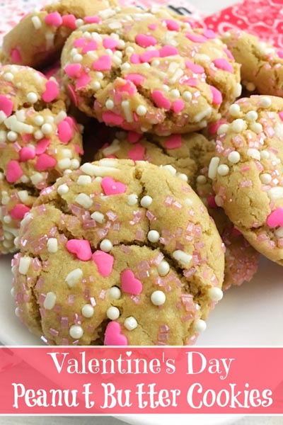 40 Valentine's Day Cookies: Valentine's Peanut Butter Cookies
