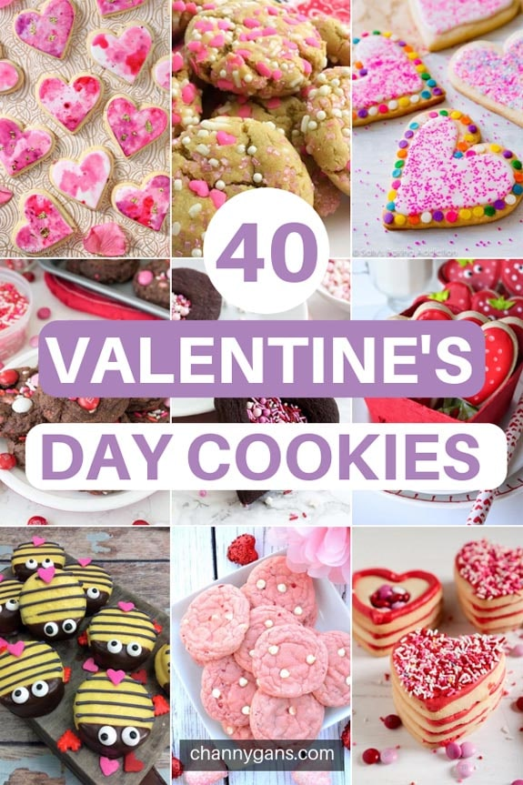 40 Valentine's Day Cookies. If you've been needing another excuse to bake cookies, here it is! 40 cute valentine's day cookies you can make for your loved ones this Valentine's day!