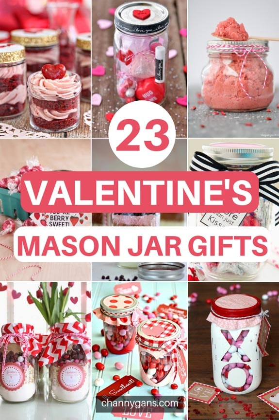 23 Awesome DIY Valentine's Mason Jar Gifts! These valentine's mason jar gifts are perfect to give to your loved ones this Valentine's day!