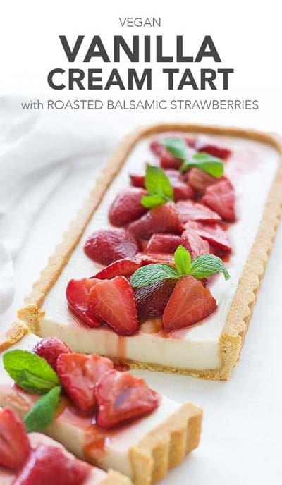20 Tasty Tart Recipes: Vegan Vanilla Cream Tart