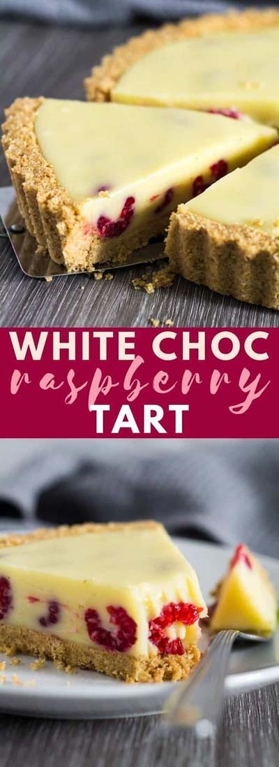20 Tasty Tart Recipes: White Chocolate Raspberry Tart