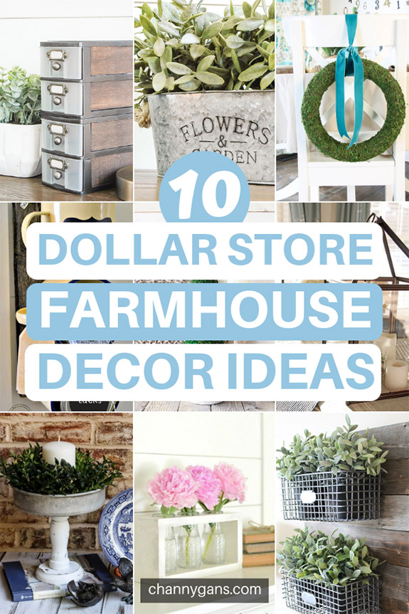 Are you loving Farmhouse style decor right now? Luckily you can easily DIY farmhouse decor with these easy dollar store farmhouse decor ideas and tips.