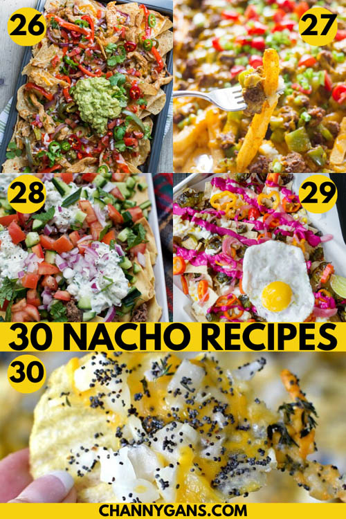 30 Delicious Nacho Recipes. Need to bring something to a party or need a quick and easy recipe? These nacho recipes are perfect for a party or dinner and are fairly simple to make.
