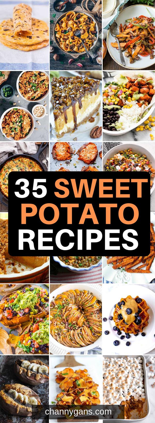 Sweet potatoes are so versatile, you can have them for breakfast, lunch or dinner and even dessert! Enjoy these 35 delectable sweet potato recipes.
