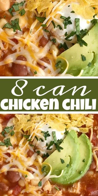 40 Chili Recipes: 8 Can Chicken Chili