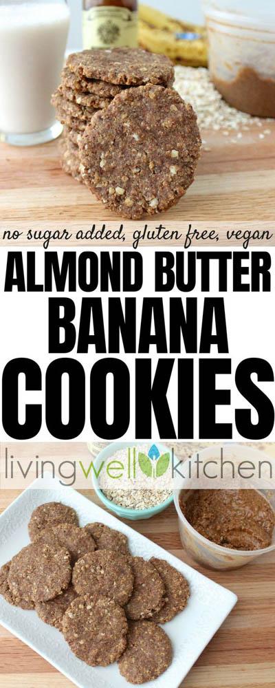 30 Vegan Cookie Recipes: Almond Butter Banana Cookies