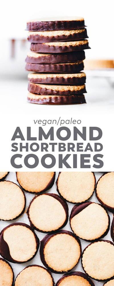 30 Vegan Cookie Recipes: Almond Shortbread Cookies