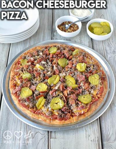 16 Keto Pizza Recipes: Bacon Cheeseburger Pizza