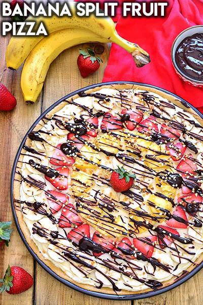20 Fruit Recipes: Banana Split Fruit Pizza