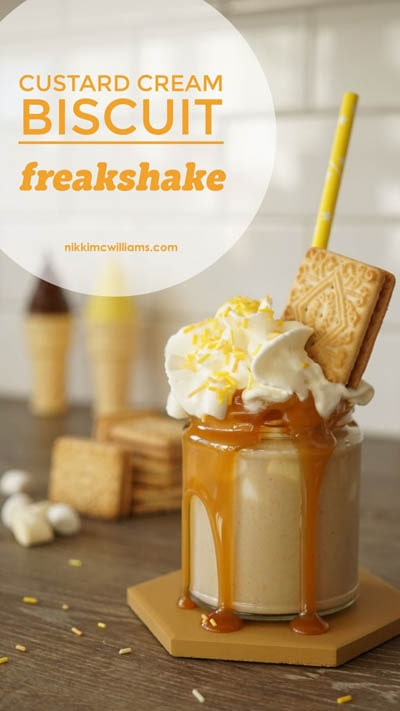 45 Milkshake Recipes: Biscuit Freakshakes