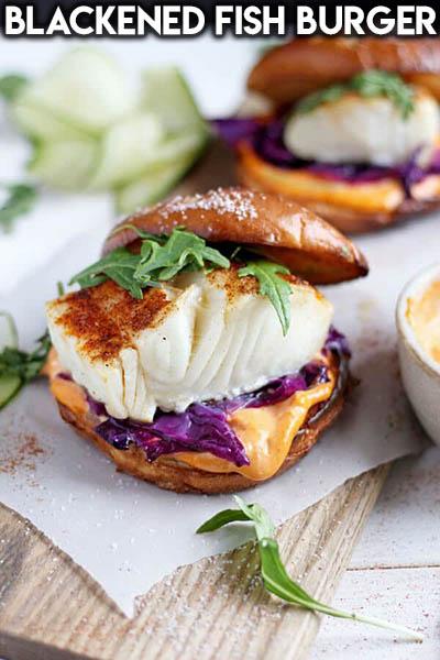 21 Burger Recipes: Blackened Fish Burger