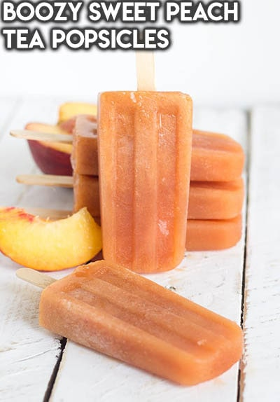 50 Popsicle Recipes: Boozy Sweet Peach Tea Popsicles