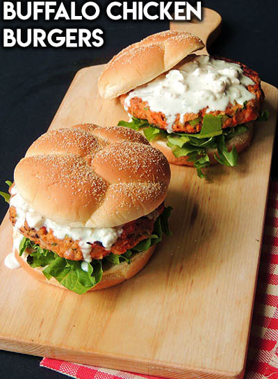 21 Burger Recipes: Buffalo Chicken Burgers