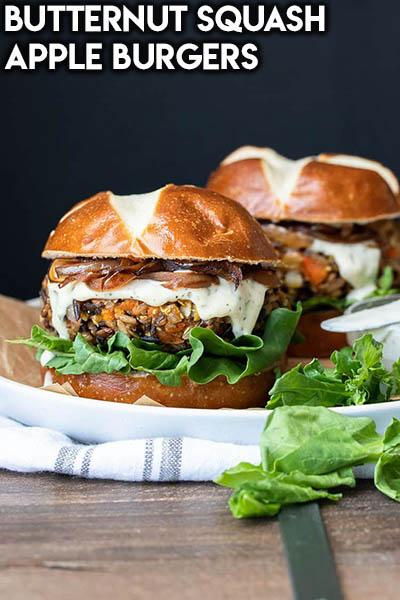 21 Burger Recipes: Butternut Squash Apple Burgers