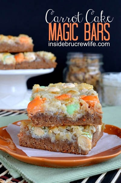 28 Magic Cookie Bars: Carrot Cake Magic Bars