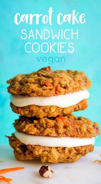 30 Vegan Cookie Recipes: Carrot Cake Sandwich Cookies