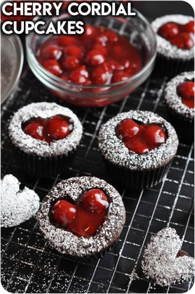 30 Valentines Day Cupcakes: Cherry Cordial Cupcakes