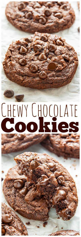 30 Vegan Cookie Recipes: Chewy Chocolate Fudge Cookies
