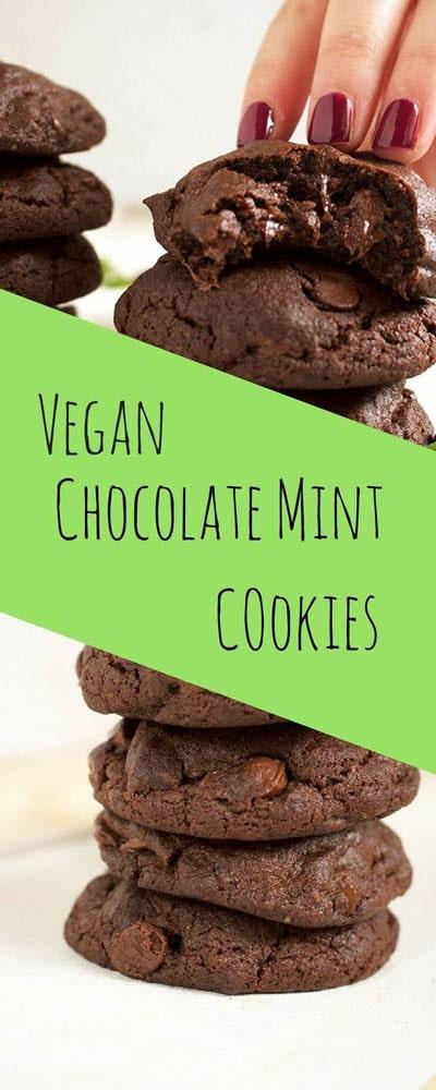 30 Vegan Cookie Recipes: Chocolate Mint Cookies