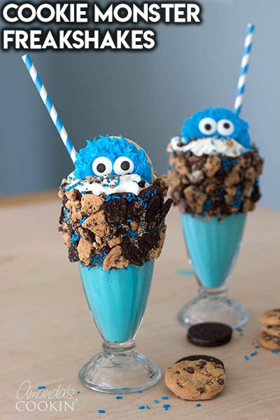 45 Milkshake Recipes: Cookie Monster Freakshakes