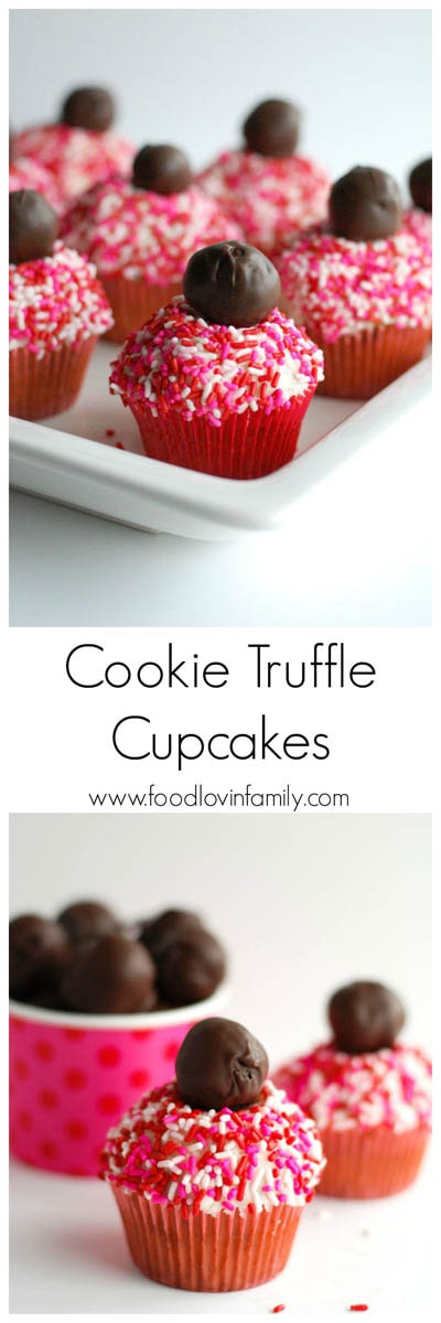 30 Valentines Day Cupcakes: Cookie Truffle Cupcakes