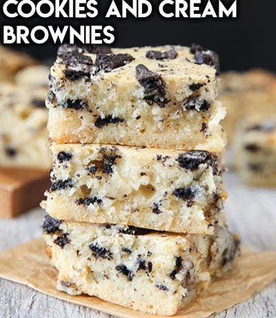 50 Brownie Recipes: Cookies And Cream Brownies
