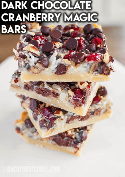 28 Magic Cookie Bars: Dark Chocolate Cranberry Magic Bars
