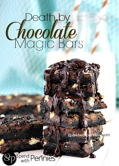 28 Magic Cookie Bars: Death by Chocolate Magic Cookie Bars