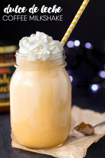 45 Milkshake Recipes: Dulce de Leche Coffee Milkshake