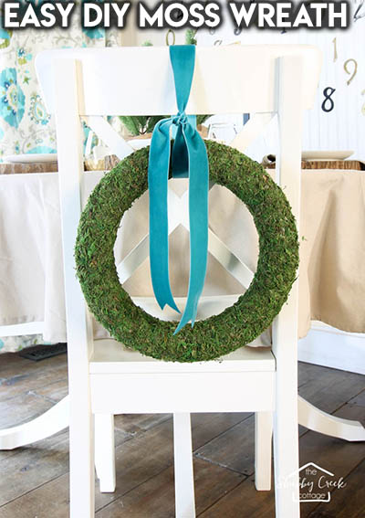 10 Dollar Store Farmhouse Decor Ideas: Easy DIY Moss Wreath