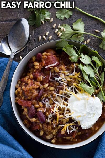 40 Chili Recipes: Easy Farro Chili