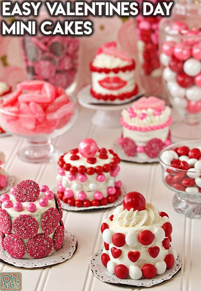 30 Valentines Day Cupcakes: Easy Valentines Day Mini Cakes