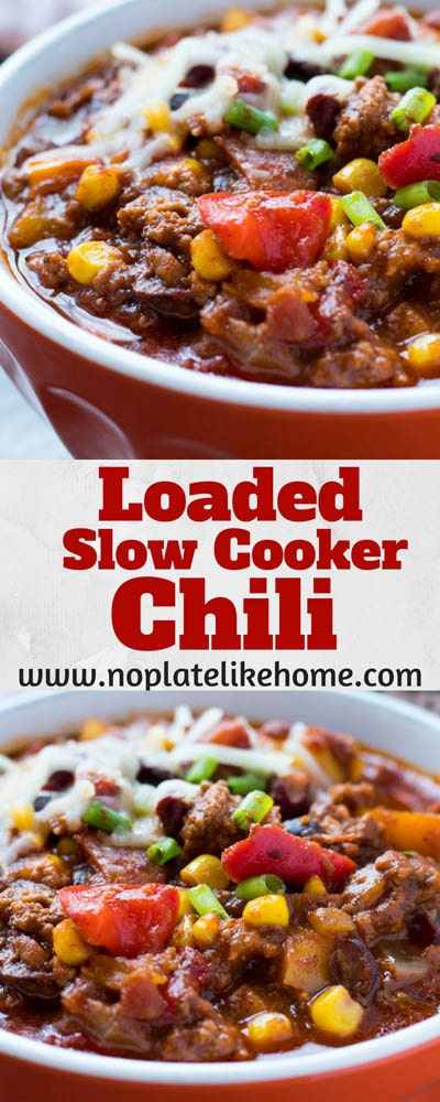 40 Chili Recipes: Fool Proof Loaded Slow Cooker Santa Fe Chili