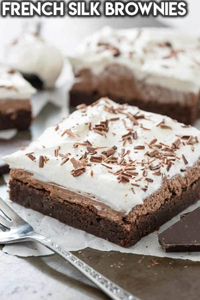 50 Brownie Recipes: French Silk Brownies