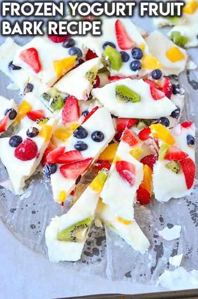 20 Fruit Recipes: Frozen Yogurt Fruit Bark Recipe