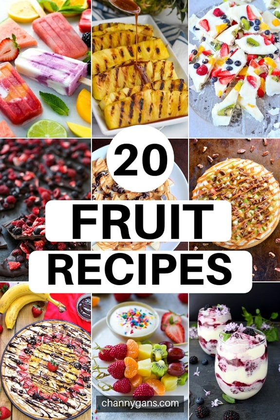 20 Fun Fruit Recipes. Fruit is certainly not only for breakfast or snacks - they make great desserts too! Try some of these fruit recipes to make a delicious and healthier dessert.