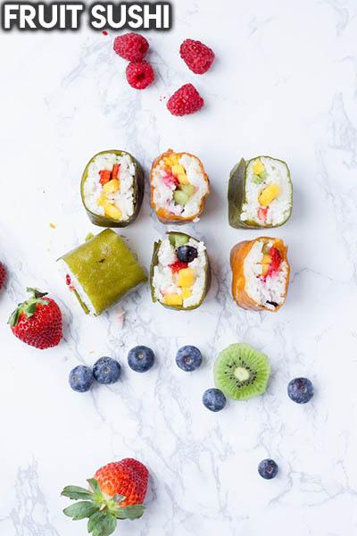 20 Fruit Recipes: Fruit Sushi