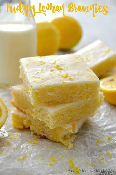 50 Brownie Recipes: Fudgy Lemon Brownies
