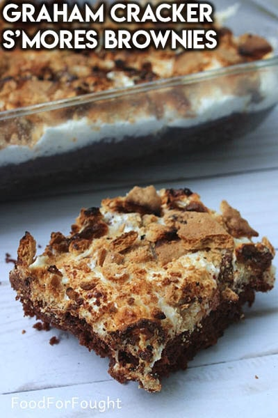 50 Brownie Recipes: Graham Cracker S'mores Brownies