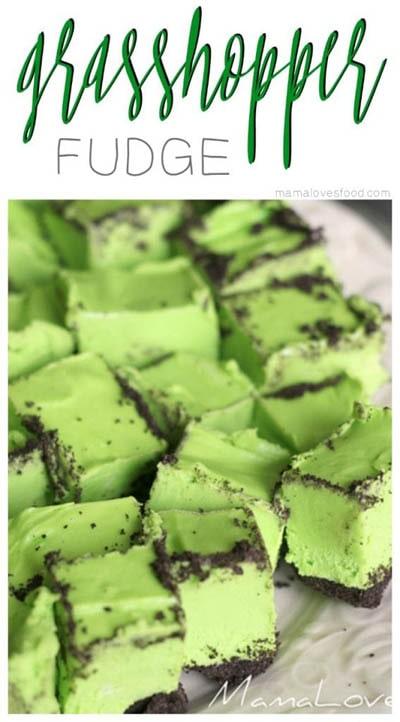 50 St. Patrick's Day Desserts: Heuschreckenfondant