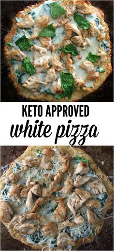 16 Keto Pizza Recipes: Grilled Chicken & Spinach Keto Pizza