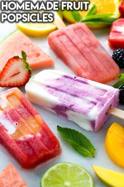 20 Fruit Recipes: Homemade Fruit Popsicles