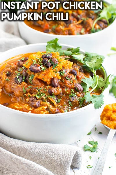 40 Chili Recipes: Instant Pot Chicken Pumpkin Chili
