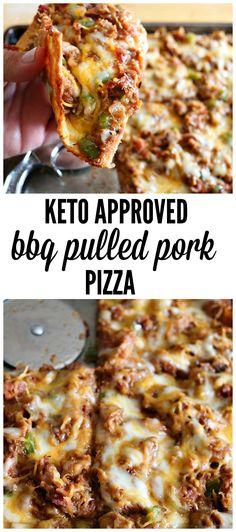 16 Keto Pizza Recipes: Keto BBQ Pulled Pork Pizza