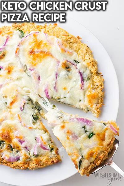 16 Keto Pizza Recipes: Keto Chicken Crust Pizza Recipe