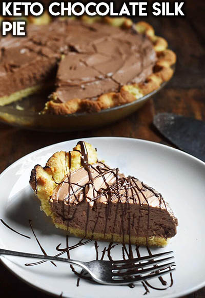20 Keto Valentines Dessert Recipes: Keto Chocolate Silk Pie