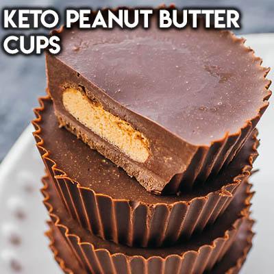 20 Keto Valentines Dessert Recipes: Keto Peanut Butter Cups