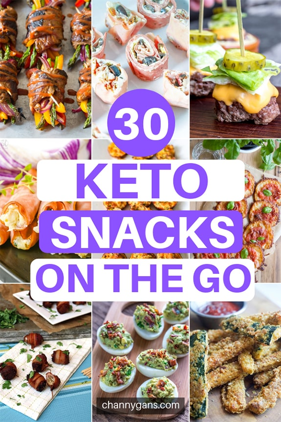 With these easy keto snacks on the go, you have no excuse not to stick to your keto diet. We've gathered 30 keto snacks that you can easily make ahead to grab and go on busy days.