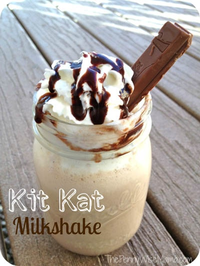 45 Milkshake Recipes: Kit Kat Milkshake