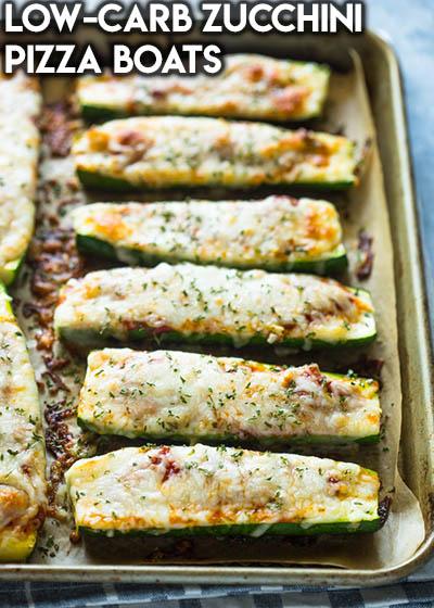 16 Keto Pizza Recipes: Low-carb Zucchini Pizza Boats